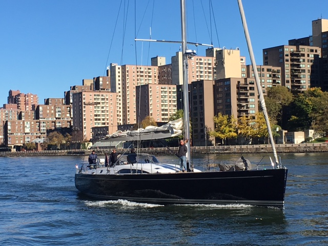 Swan 66 in the East River - New York City