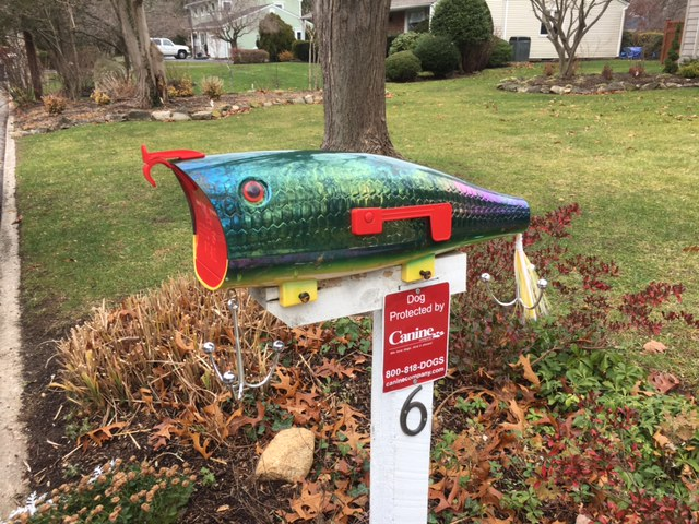 A very unique mailbox for you fisherman!