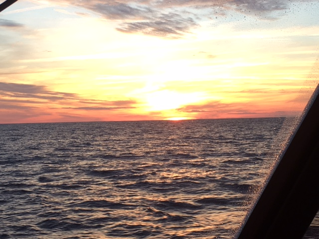 Nothing beats an offshore sunset! 40 miles off the Georgia coast on a delivery south - January 2017