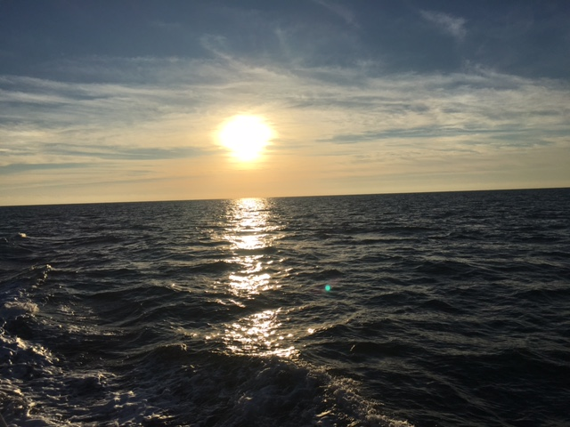 Offshore sunrise is pretty too! 35 miles east of St. Augustine FL - January 2017